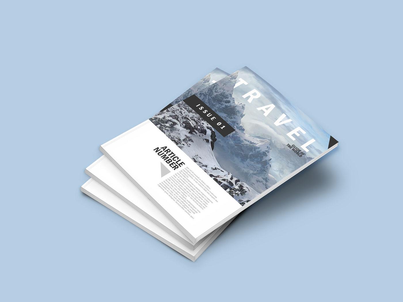 Download A4 Magazine Mockup Bundle | Mockup World