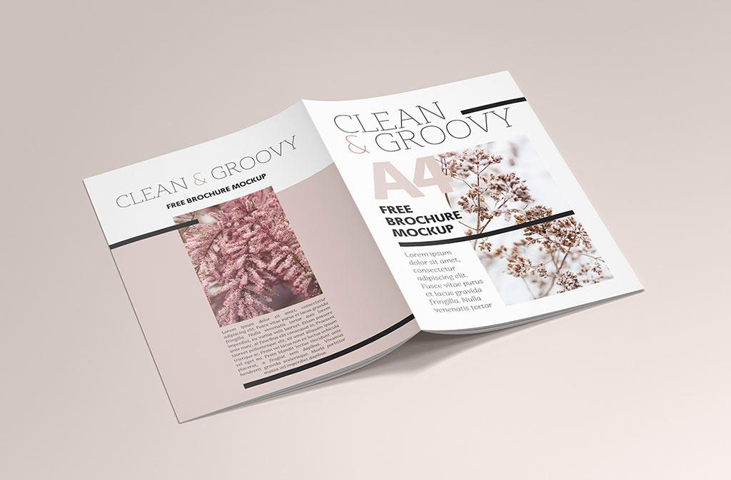 A4 Brochure Mockup Bundle Mockup World