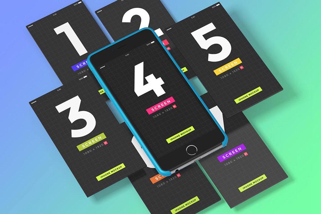 Iphone Ui Showcase Mockups Mockup World