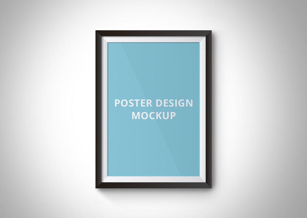 Simple Poster Frame Mockup Mockup World