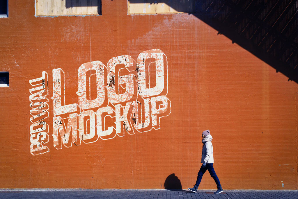 Street Wall Logo Mockup Mockup World