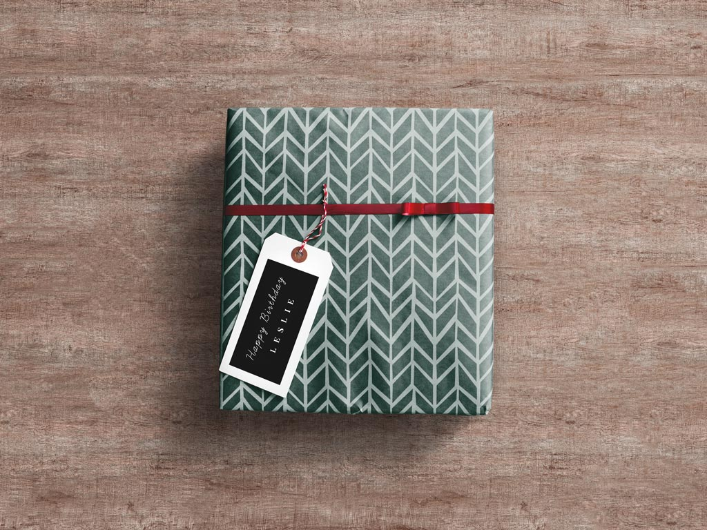 Wrapped Gift Box Mockup World