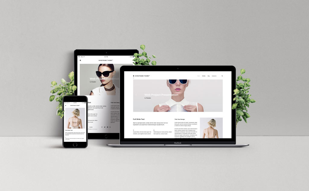 Responsive Web Design Showcase Mockup Mockup World