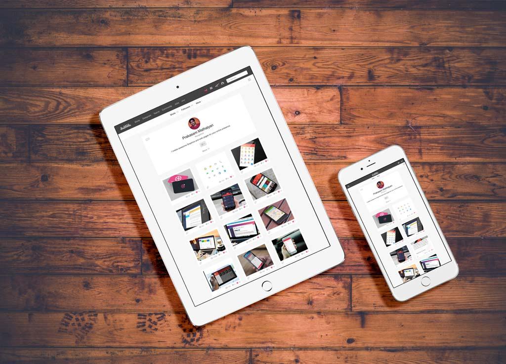 White Ipad And Iphone On Floor Mockup Mockup World
