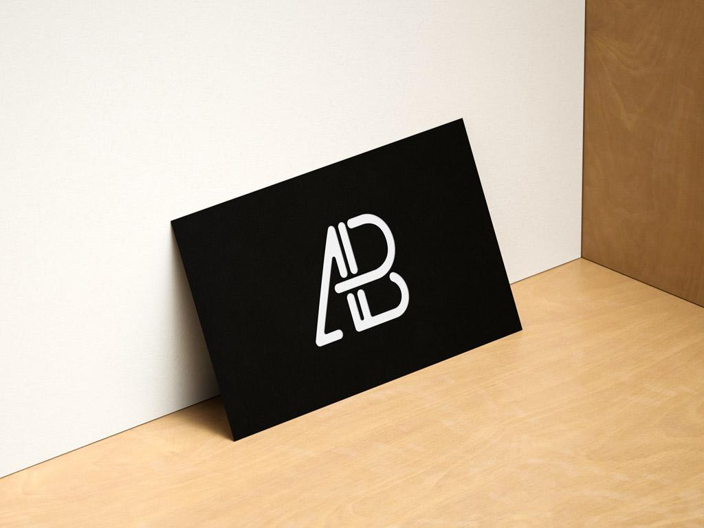 Horizontal And Vertical Business Cards Showcase Mockup Mockup World