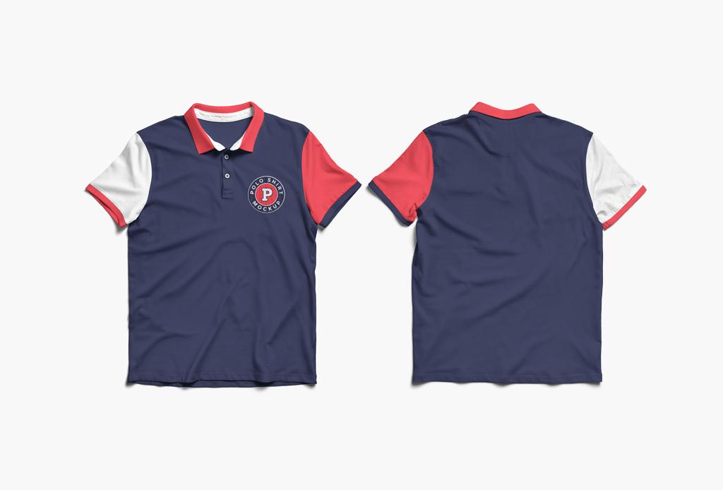 Polo Shirt Front And Back Mockup Mockup World