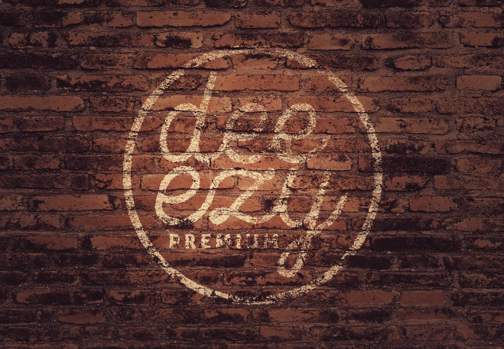 Brick Wall Logo Mockup Mockup World