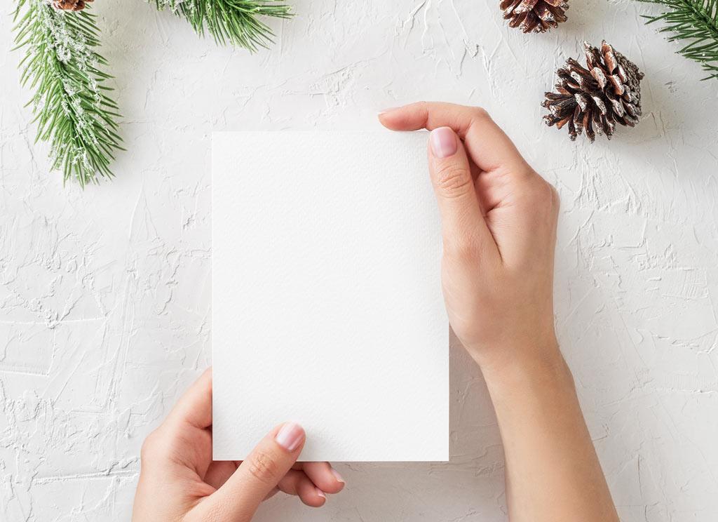 Christmas Greeting Card Mockup Mockup World