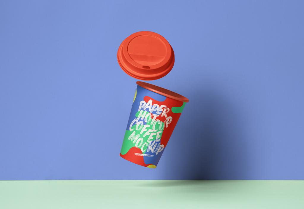 Anti Gravity Coffee Cup Mockup Mockup World