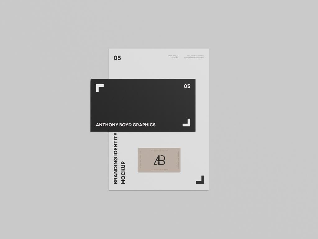 Letterhead, Envelope and Business Card Mockup | Mockup World