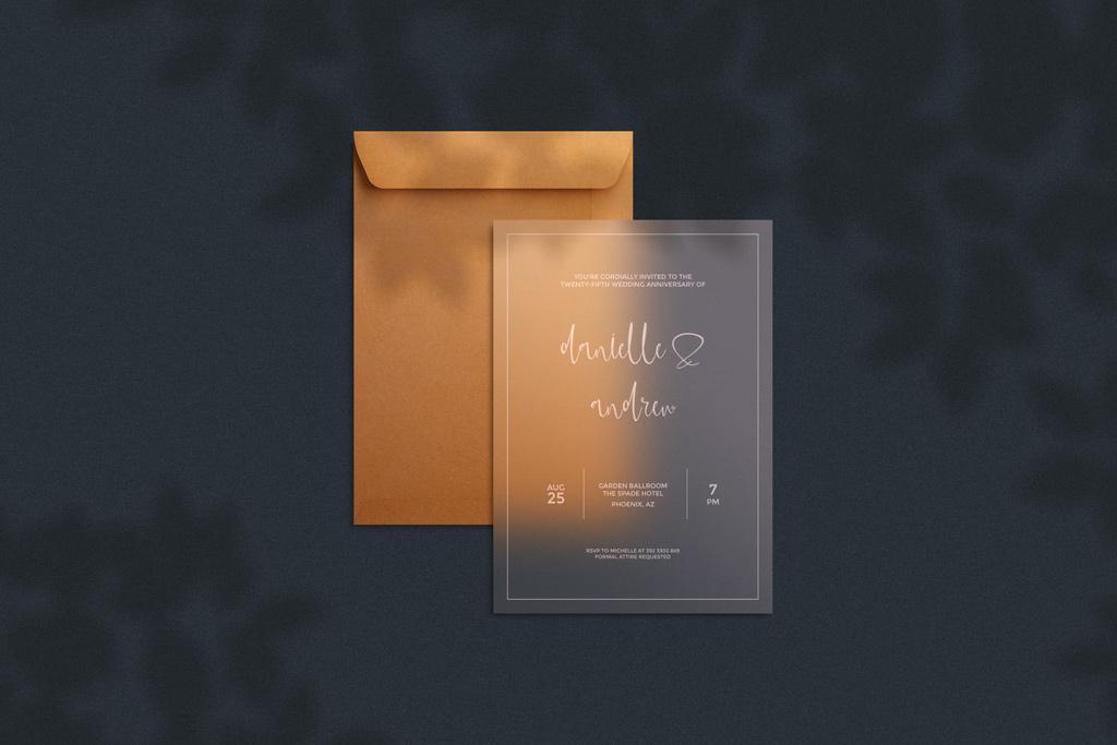 Download Translucent Invitation Card with Envelope Mockup | Mockup ...