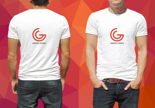 Front And Back Male T Shirt Mockup Mockup World