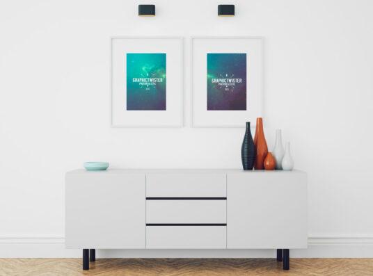 Picture Frames In Living Room Mockup Mockup World