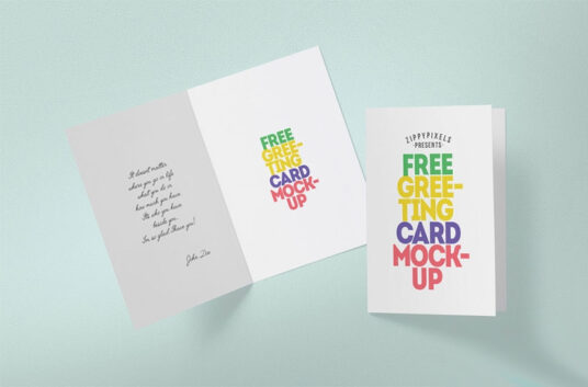 Foldable Greeting Card Mockup Mockup World