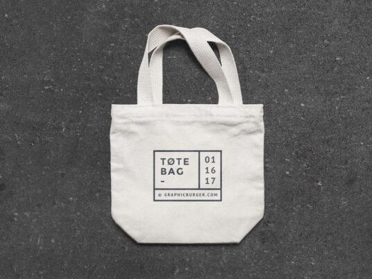 Small Canvas Tote Bag Mockup Mockup World