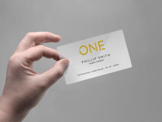 Hand Holding Business Card Mockup Mockup World