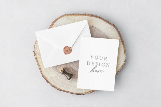 Invitation Card With Envelope Mockup Mockup World