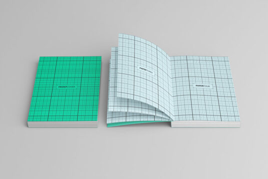 Open And Closed Softcover Book Mockup Mockup World